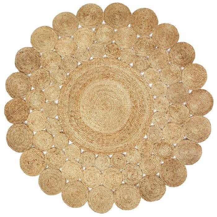 High quality eco friendly round natural seagrass rugs seagrass hyacinth carpets