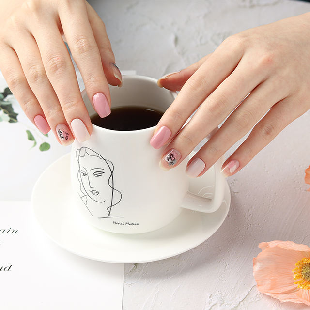 Korea nail sticker gel nail wrap High Quality Korea Factory OEM