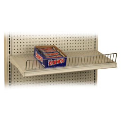 "Wire Front Shelf Fences for Gondola Shelving, 3"" H x 24"" W (7.6 cm H x 61 cm W), 2 FT, 50 Pack"