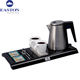 China Hotel supplies luxury mini hot water kettles tea travel parts 304 stainless steel electric kettle with welcome tray set