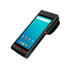 Support NFC/1D Barcode/2D Barcode Scanner Android 8.1 Handheld Terminal 5.5 inch 4G PDA with 58mm Printer for Logistics
