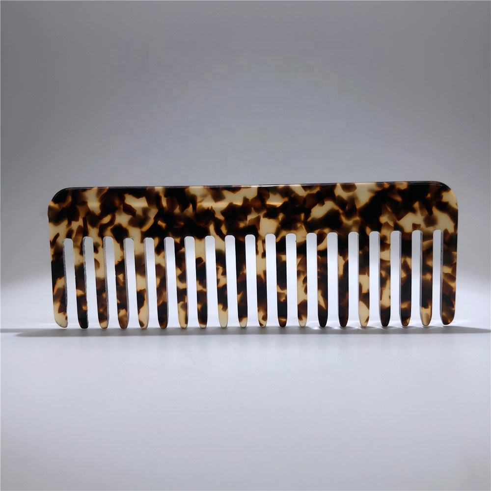 wholesale Tortoise shell cellulose acetate hair comb and brushes marble color handmade beauty hair combs and tool