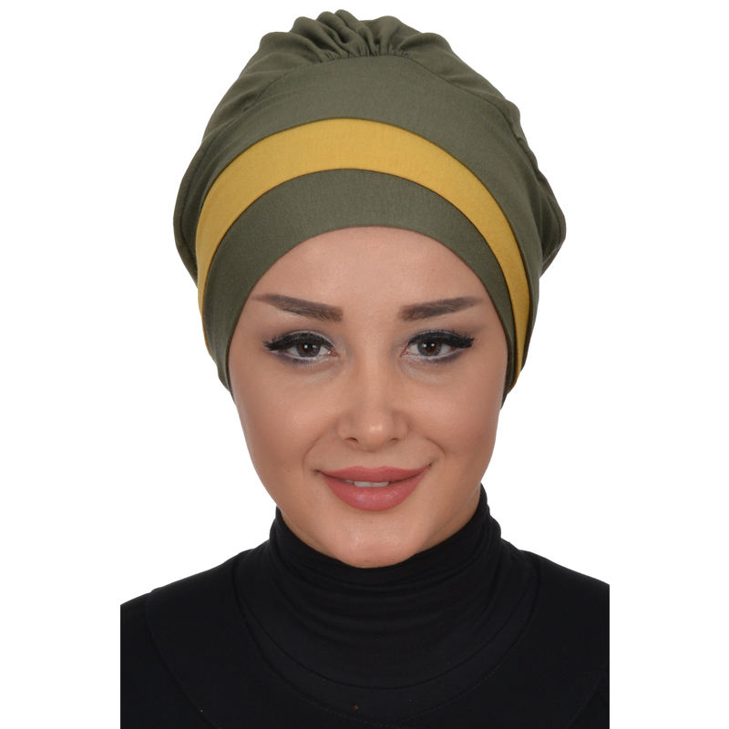 LUXURY Comfortable Flexible Fabric Different Wrapping SMOCKED COTTON BONNET HEADWEAR HEADWEAR FOR MUSLIM LADIES
