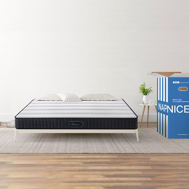 Sleep well roll up in a box king size memory foam bed mattress