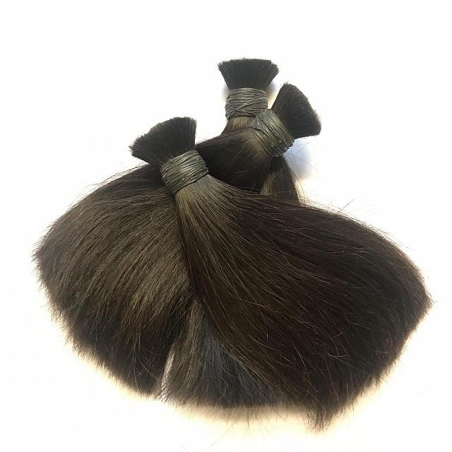 Human real 100% bulk hair extension cheap bundle from 8 inch to 32 inch Bulk Hair For Making Human Hair Wigs