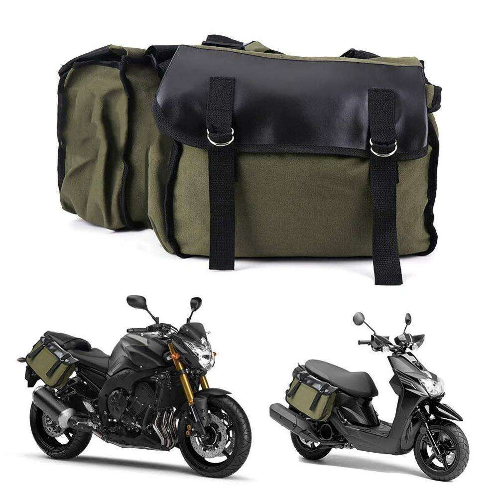 Outdoor Waterproof Canvas Tank Bags Soft Saddle Bag Motorcycle