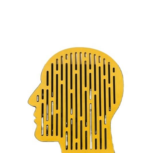 Head shape MDF panels home decoration piece