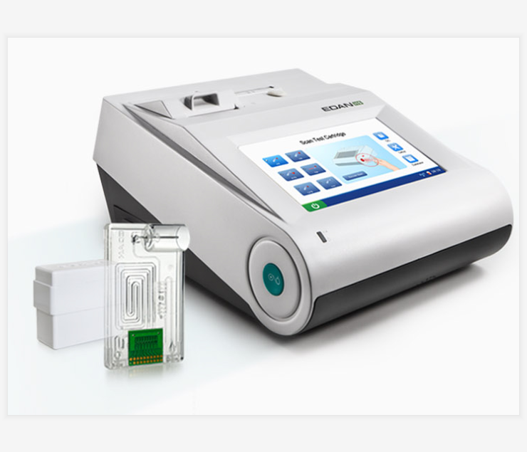 Portable i15 EDAN Blood Gas Analyzer and Chemistry Analysis System Multi-parameter in one cartridge support EDAN BG10