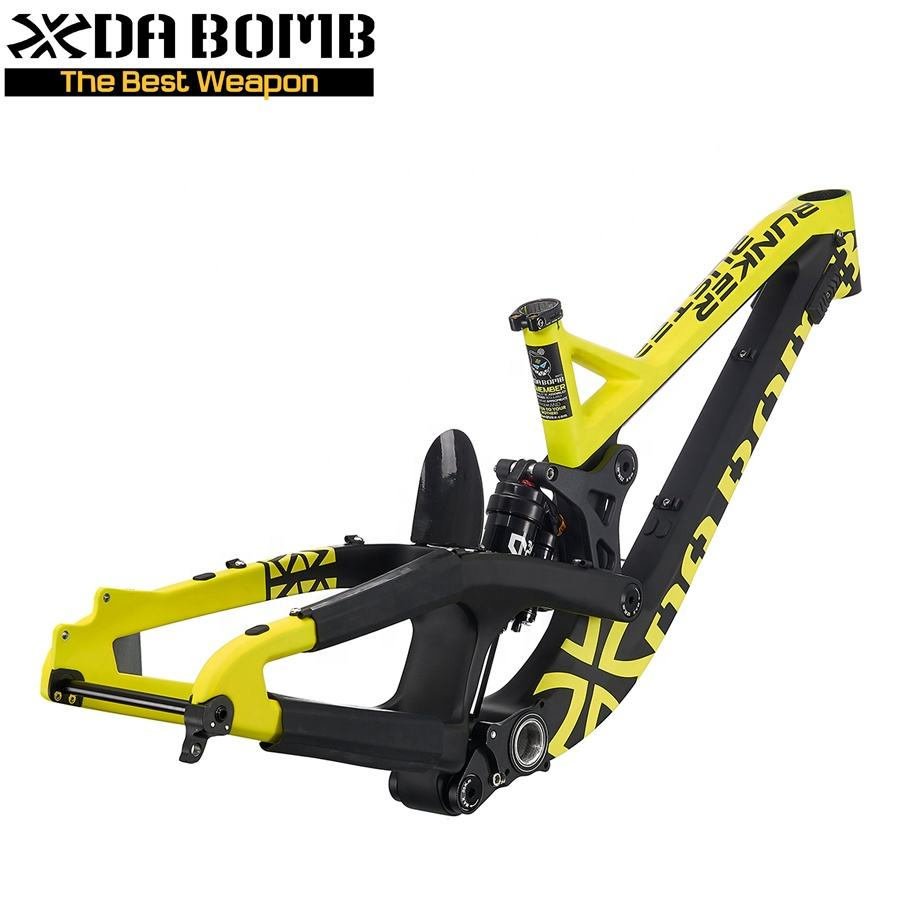 DaBomb 27.5 Full Suspension Carbon MTB Bicycle Frame for Down Hill