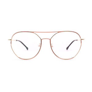Rose gold round vintage glasses rounded spectacles specs frames for men