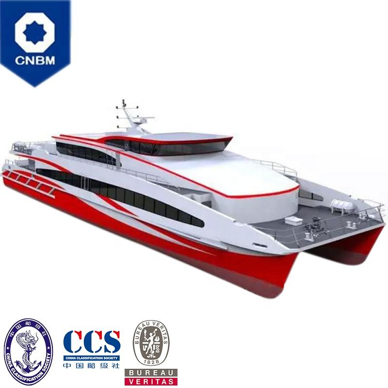 139ft 280 Seats High-speed craft Cruise Yacht Luxury Sightseeing Tour Aluminum Catamaran Ferry Passenger Crew Boat for Sale