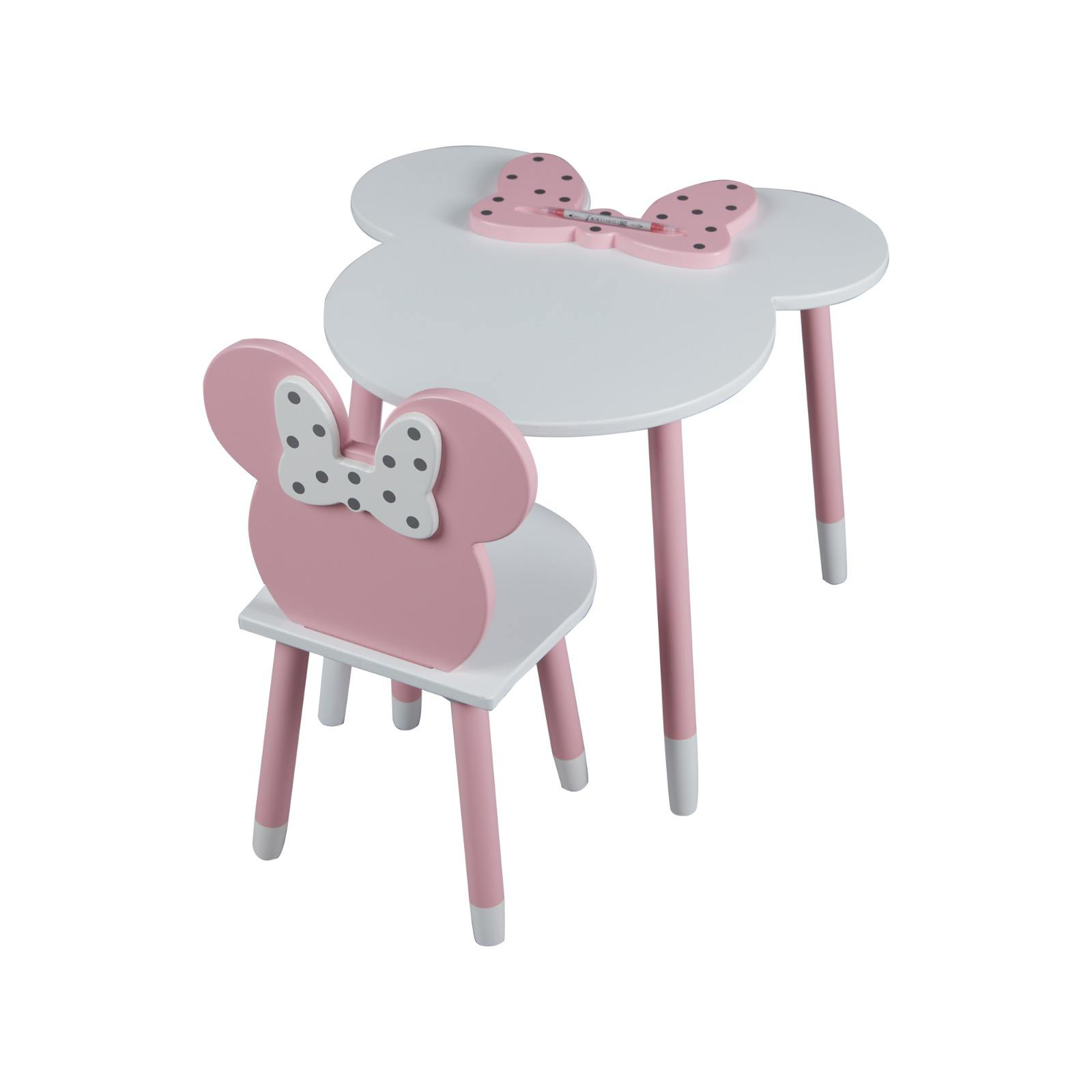 Yoyosta Kids Room Decoration High quality Wooden Kids Pink Mouse Chair and Mouse Table Set 2 3 4 5 6 7 8 9 Years 1