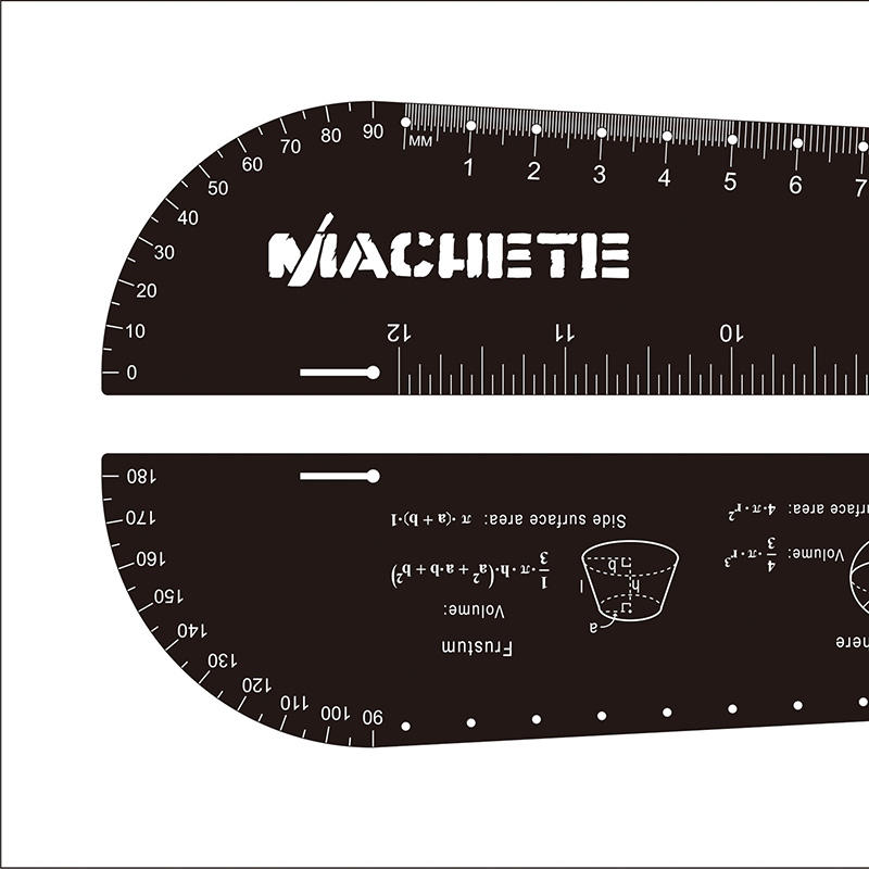 12inch /6inch 30cm/15cm Straight laser etched black Stainless steel/aluminum metal ruler
