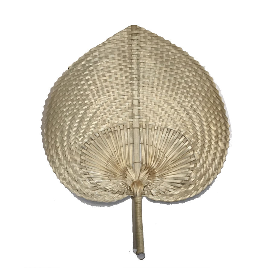 VietNam wholesale custom product Heart Shaped Bamboo Hand Fan from Phuong Duy Handicraft Company