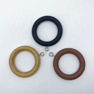 Wood curtain rings with various color Wood eyelets for 28mm poles