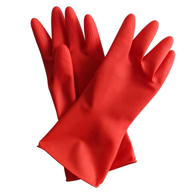 Hot Sale Black and Red M L Size Kitchen Home Cleaning Tools Silicone Household Rubber Glove