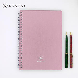 Personalized colorful spiral notebook travel log