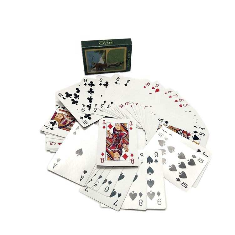 Full color playing cards custom printing laying cards with a double tuck box