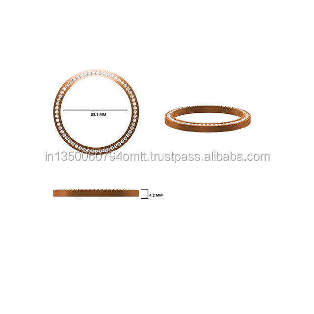 Fancy Unique Design Natural Diamond 10kt rose Gold 16 grams custom Bangles for Women/Girls