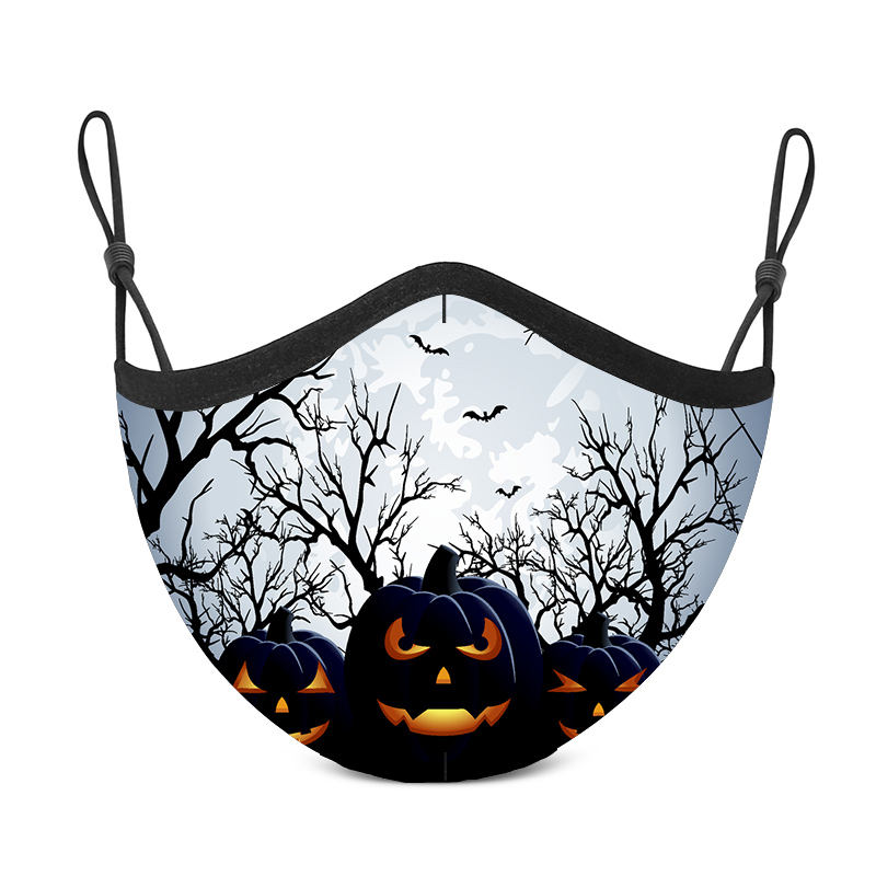 Silver ion cotton party reusable washable adult custom printing fashionable facemasks children face mask halloween