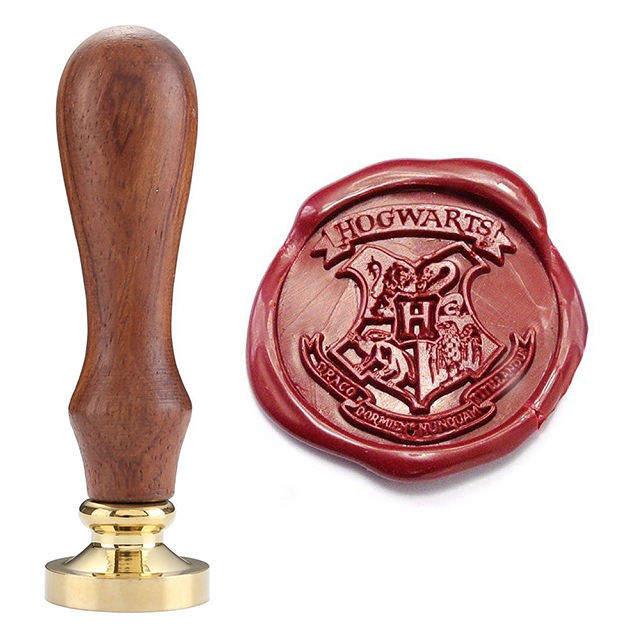 Custom Brass carved New Personalized justice retro Harry Potter Hogwarts School Badge Wax Seal Stamp
