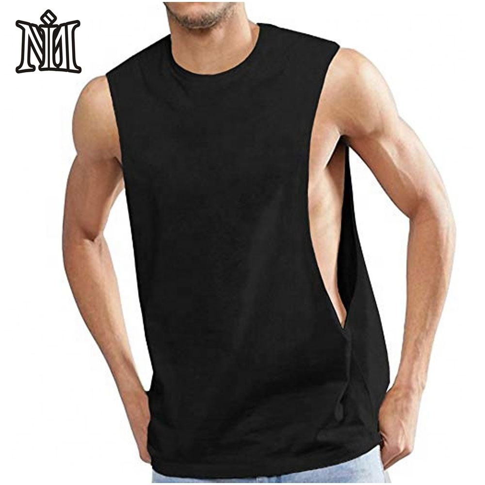Men's String Vest Fitted 100% Cotton Gym Tank Top for men