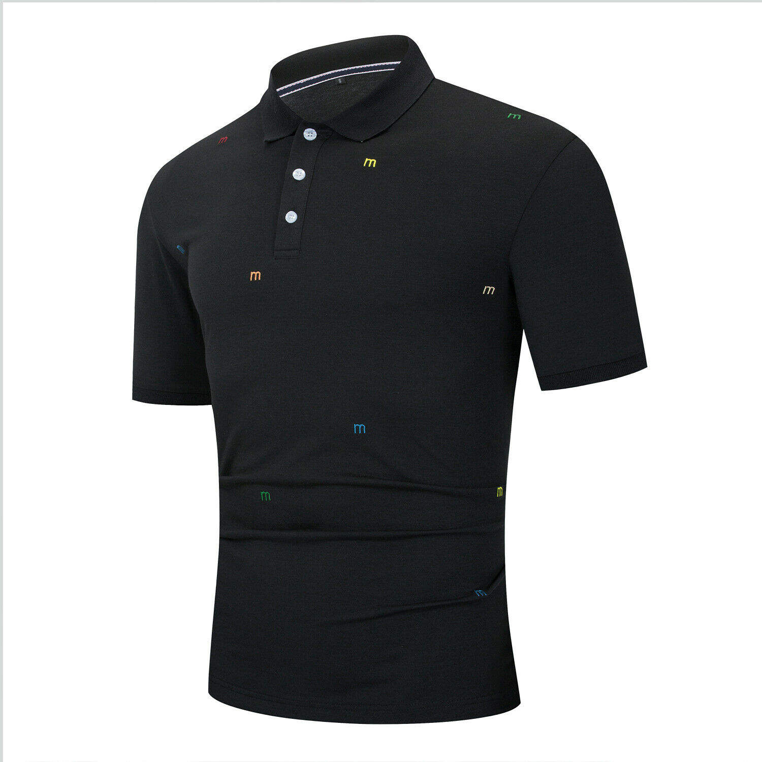 Most popular black 100% cotton blank polo no minimum order man t shirts polo custom by CFG