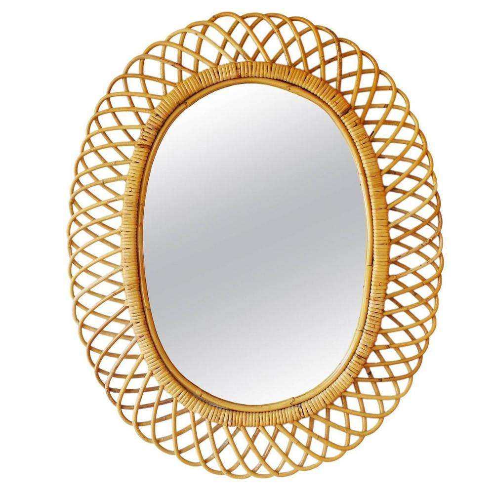 Hot Trend Cheap Price Decorative Rattan Wall Mirrors for Wall Decoration Hand Made in Vietnam