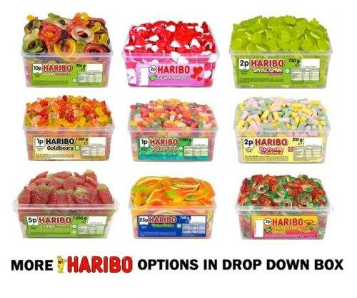 Haribo Sweets 2 Full Tubs of Candy Treats for Kids & Adults Party