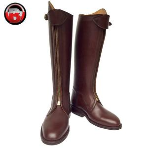 Polo Boots, Burgundy Genuine Leather Custom Made with Front Zip Riding Boots, 2020 Hand made Boot for men