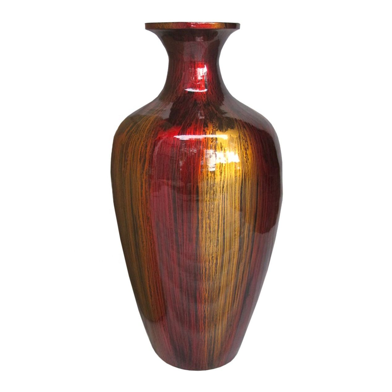 High quality best selling handmade lacquered bamboo vase