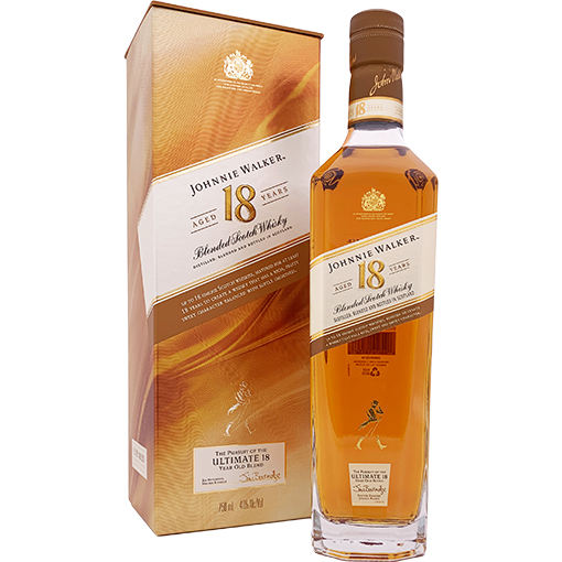 Johnny Walker Aged 18 Year Old Blended Scotch Whiskey