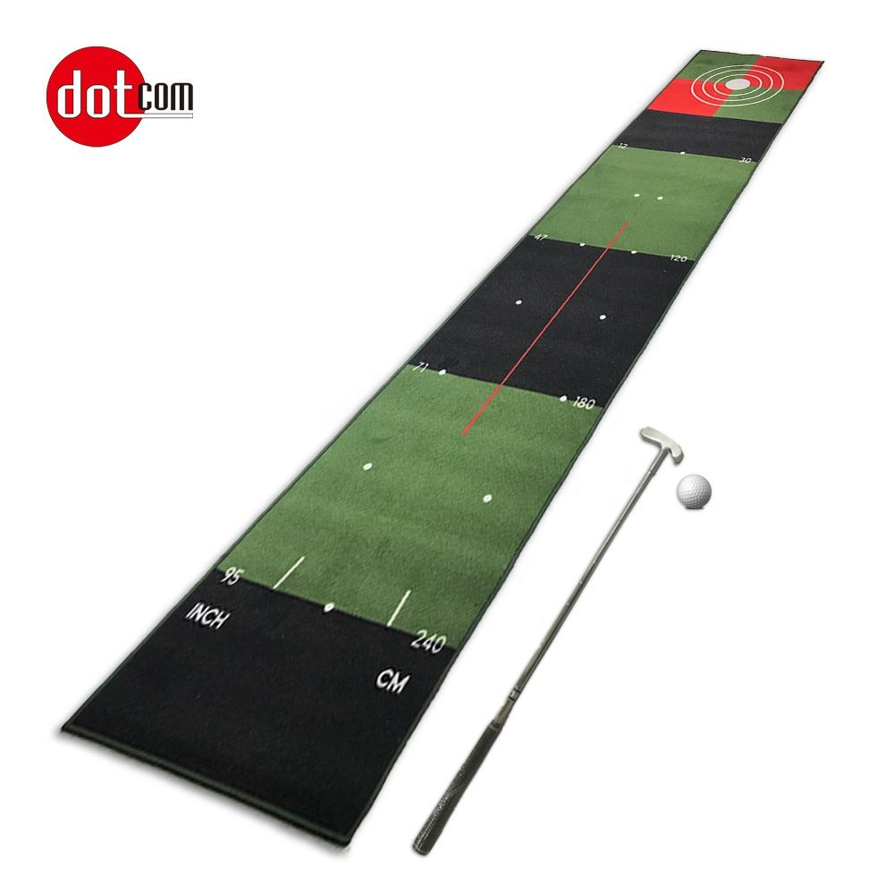 Dotcom custom practice training indoor outdoor and office golf putting mat