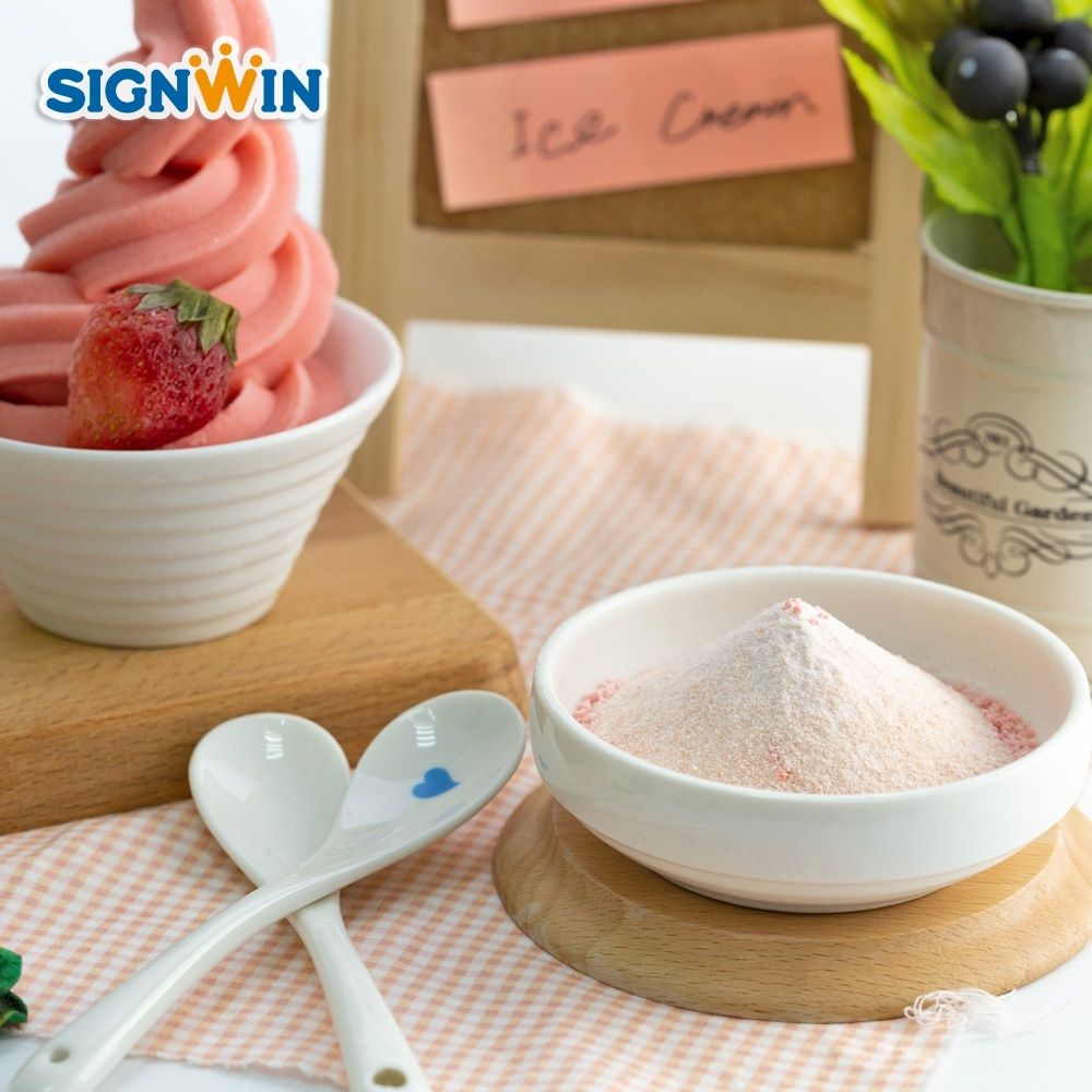 Di Vendita caldo Fruttato di Fragola Soft Ice cream mix in polvere