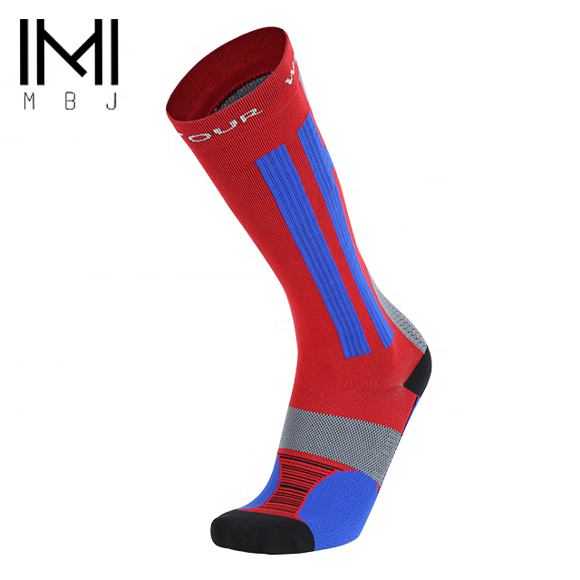 Football knee high running compression socks for tennis players