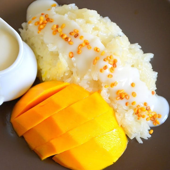 Frozen Mango With Sticky Rice And Coconut Milk