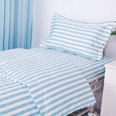 Wholesale Price High Quality Woven Cotton/Polycotton/Polyester Bedsheet for Hospital Single/Twin Bed Flat/Fitted Sheets