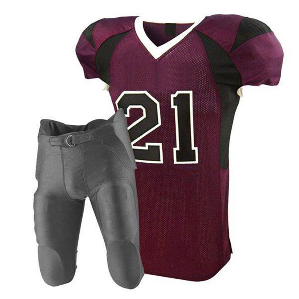 OEM Service Stitched Youth Plain Custom Made American Football Practice Jersey Uniforms Wear With Pants