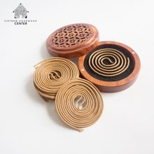 3 Hours Burning To Enjoy The Best Fragrance From Oud Incense Coil, Combine With Wood Holder For Car Using