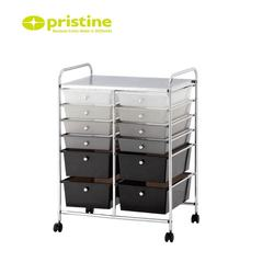 Made in Taiwan plastic storage cart with 12 drawers