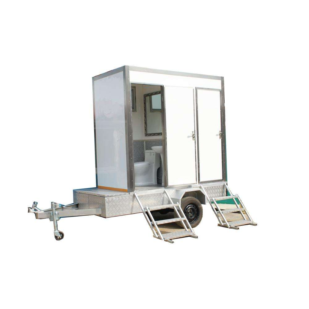 China factory luxury mobile portable VIP trailer toilet