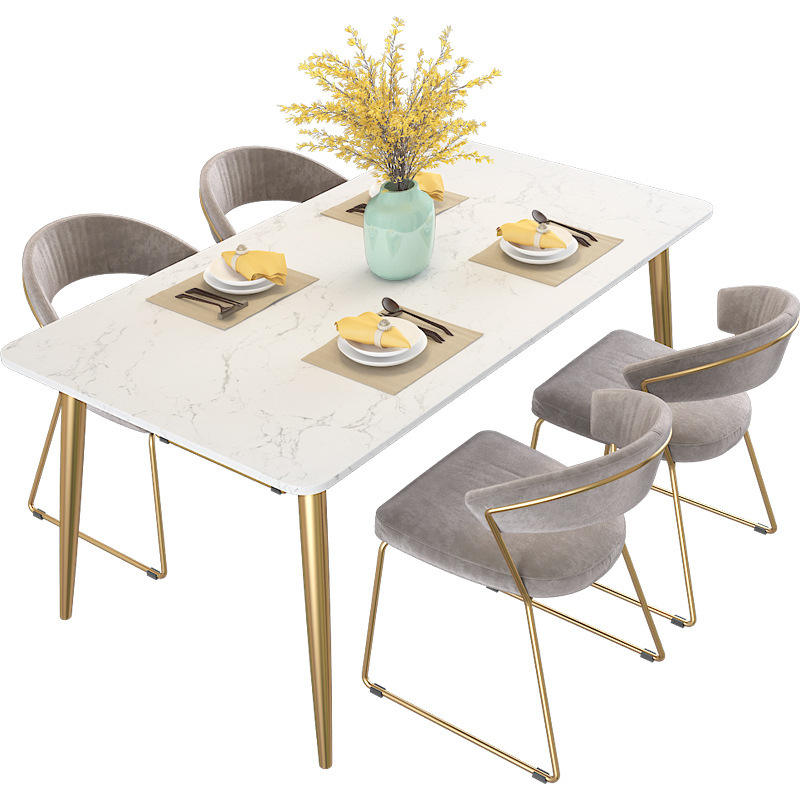 Cheap wholesale modern furniture wooden table flannel chair creative restaurant group 6/8/10 seat mdf dining table