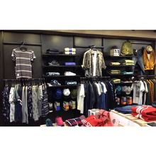 Customized interior design retail clothes design decor hanging rack for shop