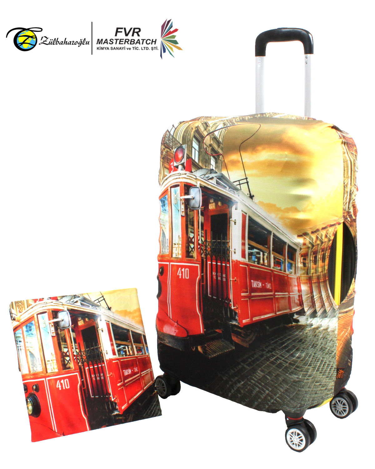Elastic Suitcase Cover Made In Turkey Printing Design Lugagge Cover Strech Custom Made