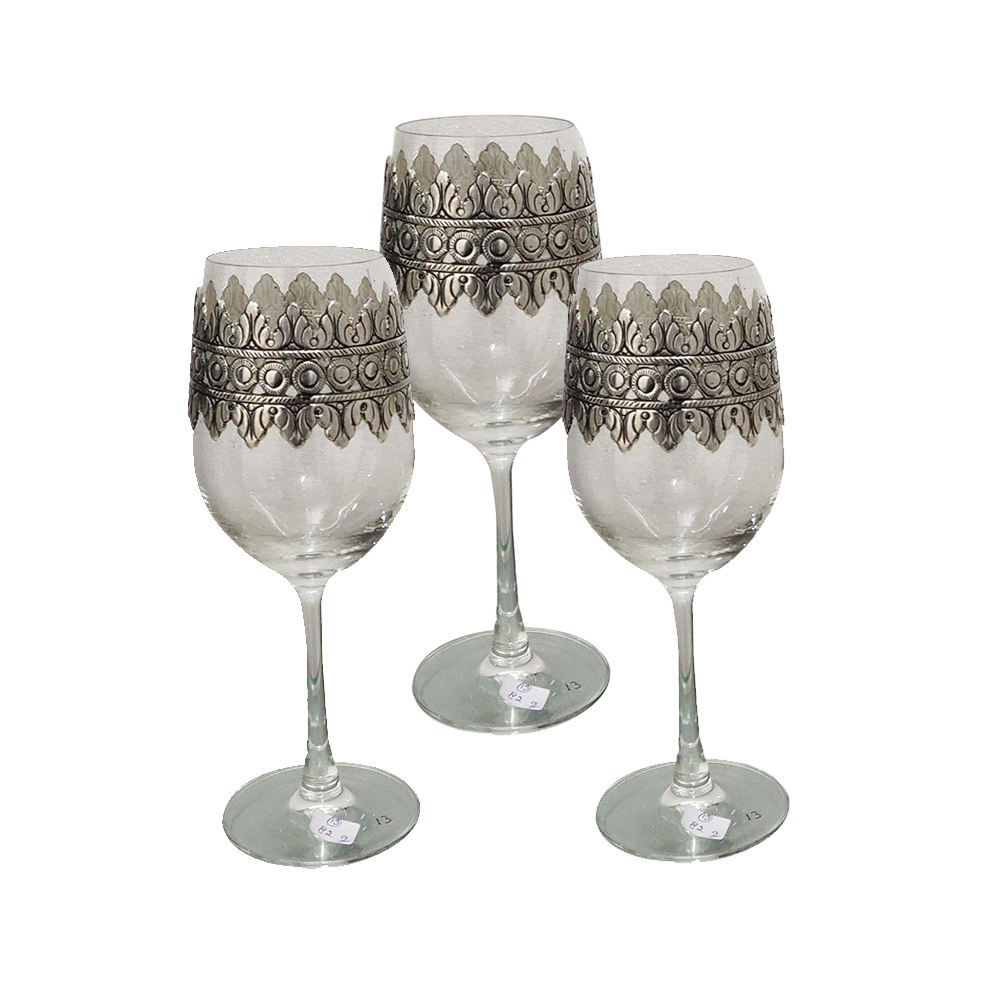 Handcrafted Silver Wine Glass