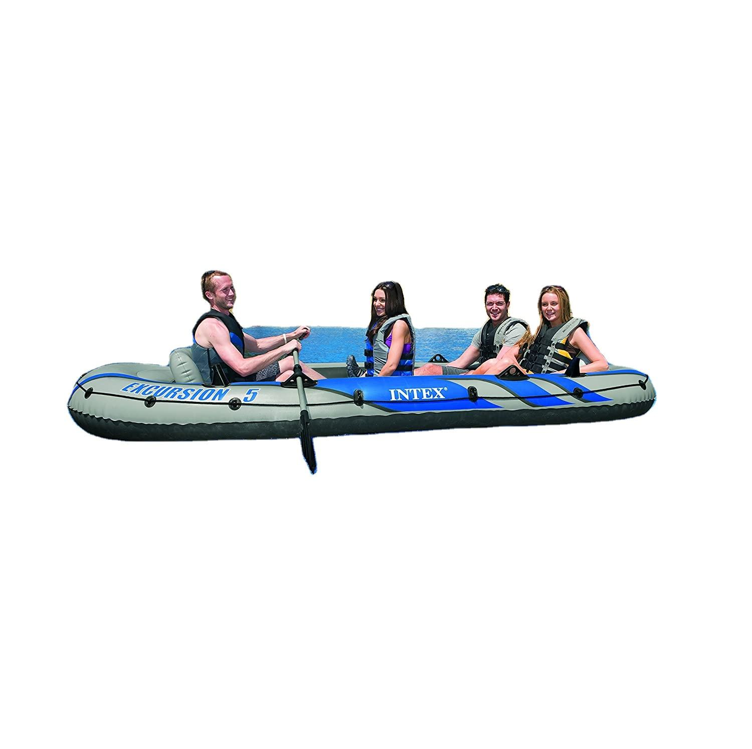 Pool accesorize floats - Inflatable Boat Intex 68325 Excursion 5 Inflatable Boat - outdoors activities in the nature - water fun