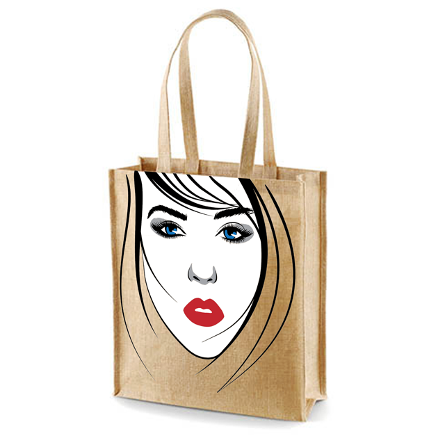In Shopping Bags Tote Fashion printing shopping Jute bags our certification ISO 9001-2015 ISO14001-2015 SA8000-2014