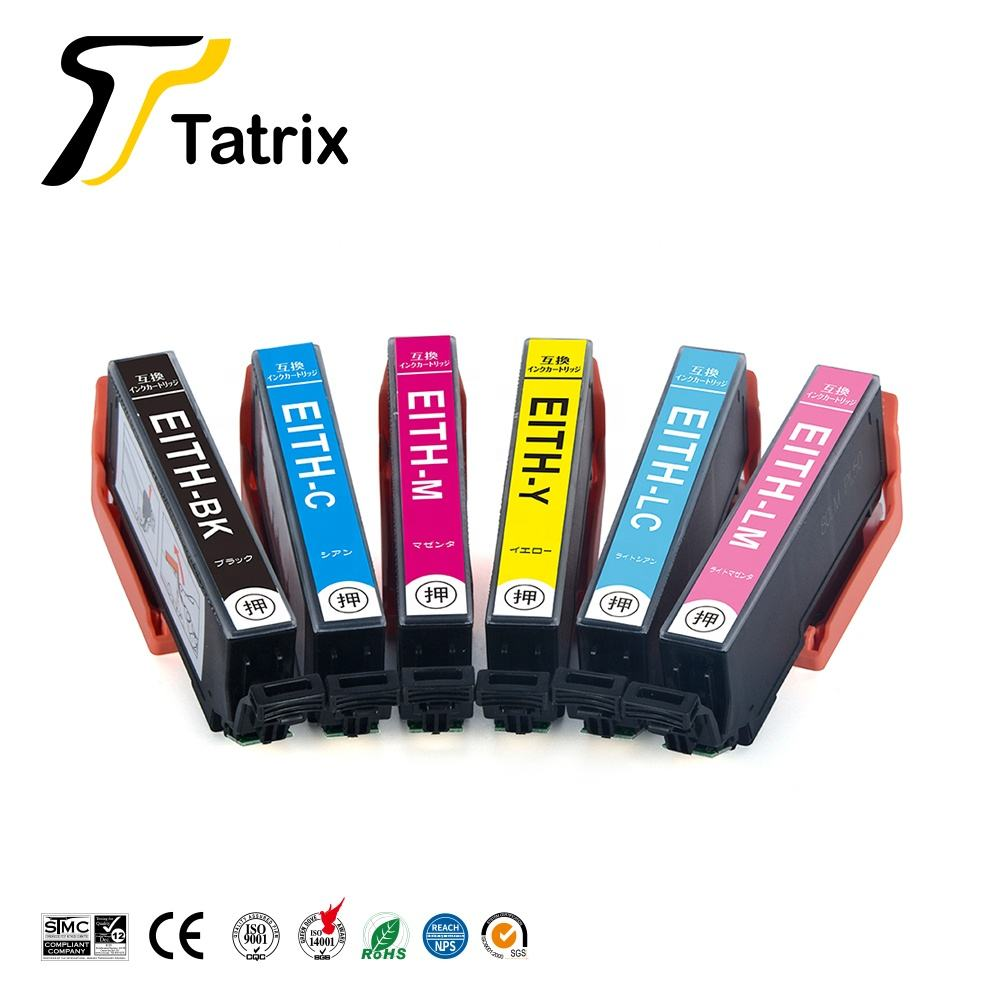 Tatrix ITH-BK ITH-C ITH-M ITH-Y ITH-LC ITH-LM Color Compatible Printer Ink Cartridge for Epson EP-709A EP-710A