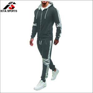 Best Quality Men's 2 Piece Tracksuit Set,Zipper Hoodie Coat Jackets+ Elastic Pant Sweat pant For Jogger Sports