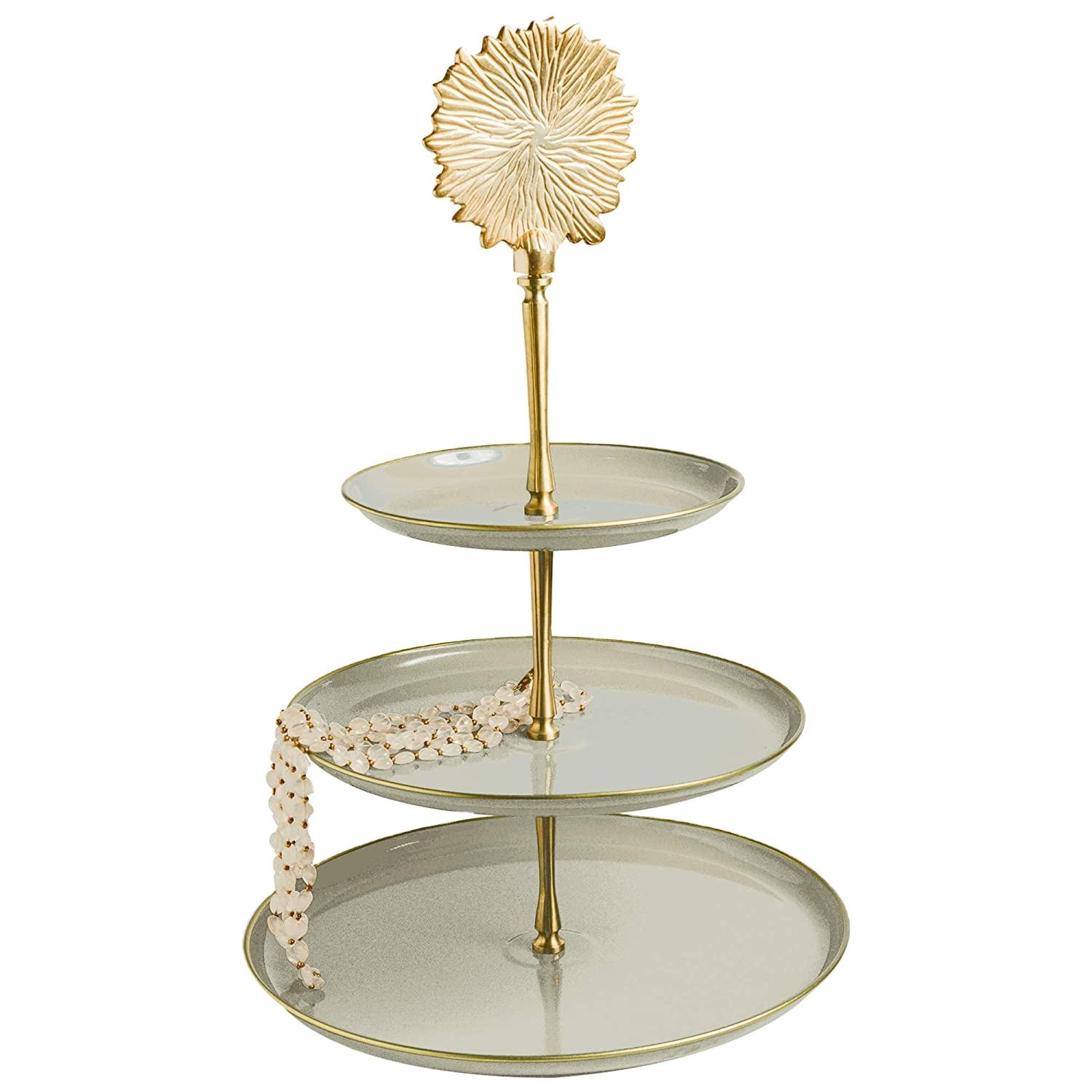 Unique design Stylish metal 3 tier cake stand made in India